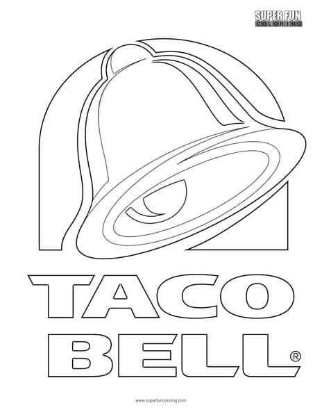 464x600 Taco Bell Logo Coloring Page