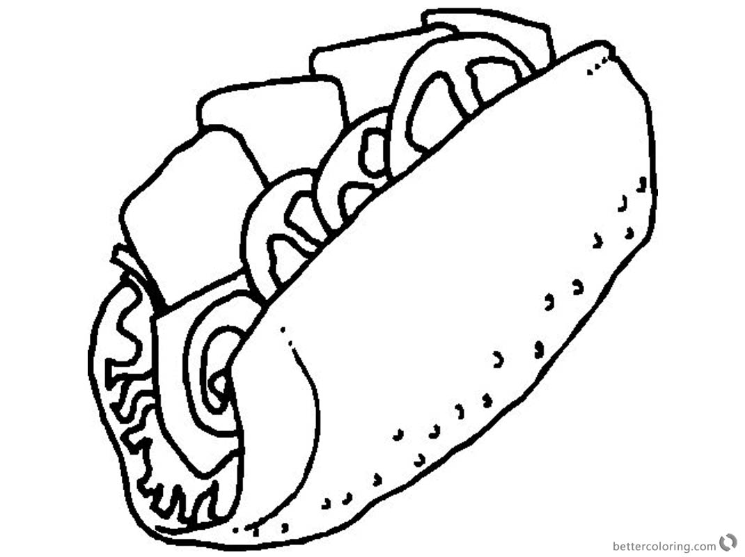 1070x800 Taco Coloring Page Sketch Picture