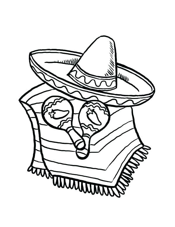 600x776 Taco Coloring Page Sombrero Coloring Page Sombrero Coloring Page