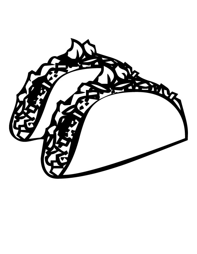 630x810 Tacos Coloring Page