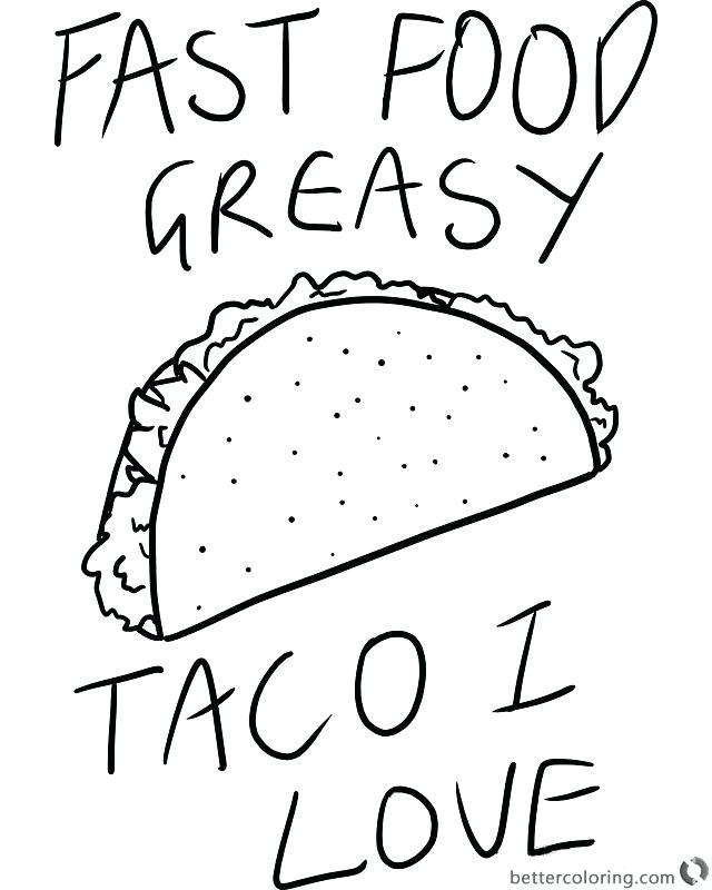 Taco Coloring Page At Getdrawings Com Free For Personal Use Taco