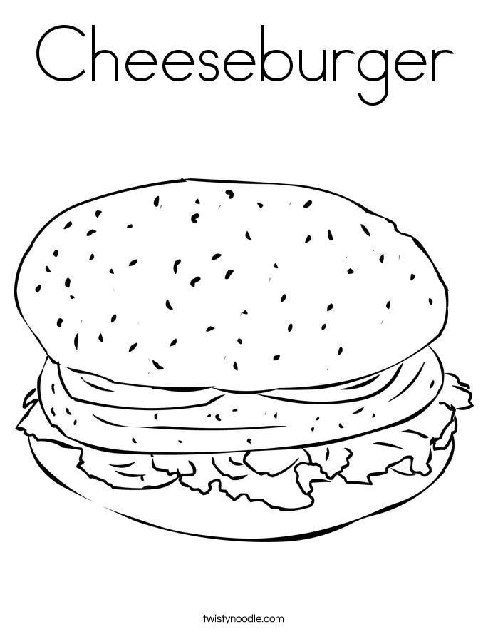 685x886 Cheeseburger Coloring Page