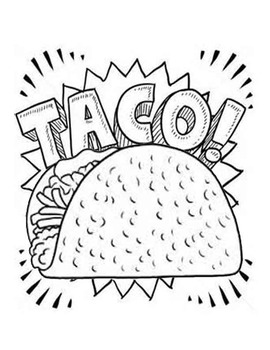 270x350 Dragons Love Tacos Taco Coloring Page