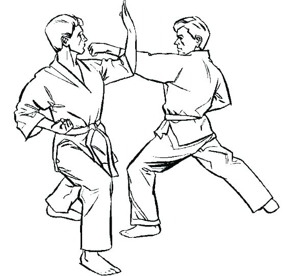 600x542 Taekwondo Coloring Pages Coloring Pages Karate Kid Karate Kid