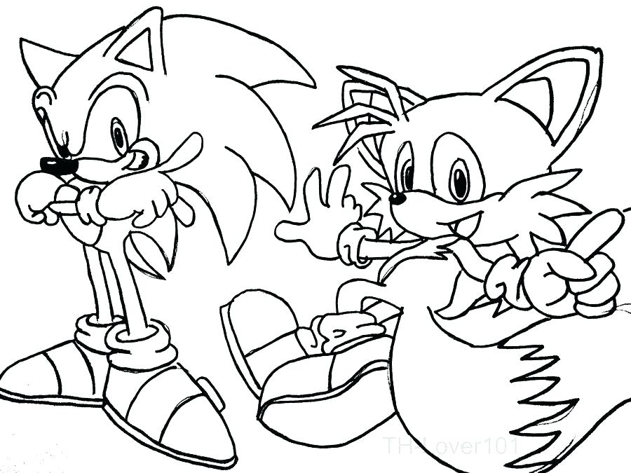 Tails Coloring Pages