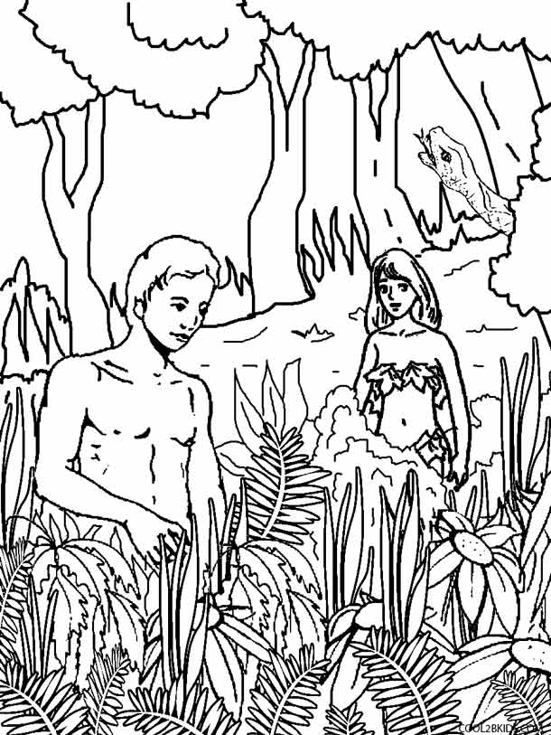 610x813 Printable Adam And Eve Coloring Pages For Kids