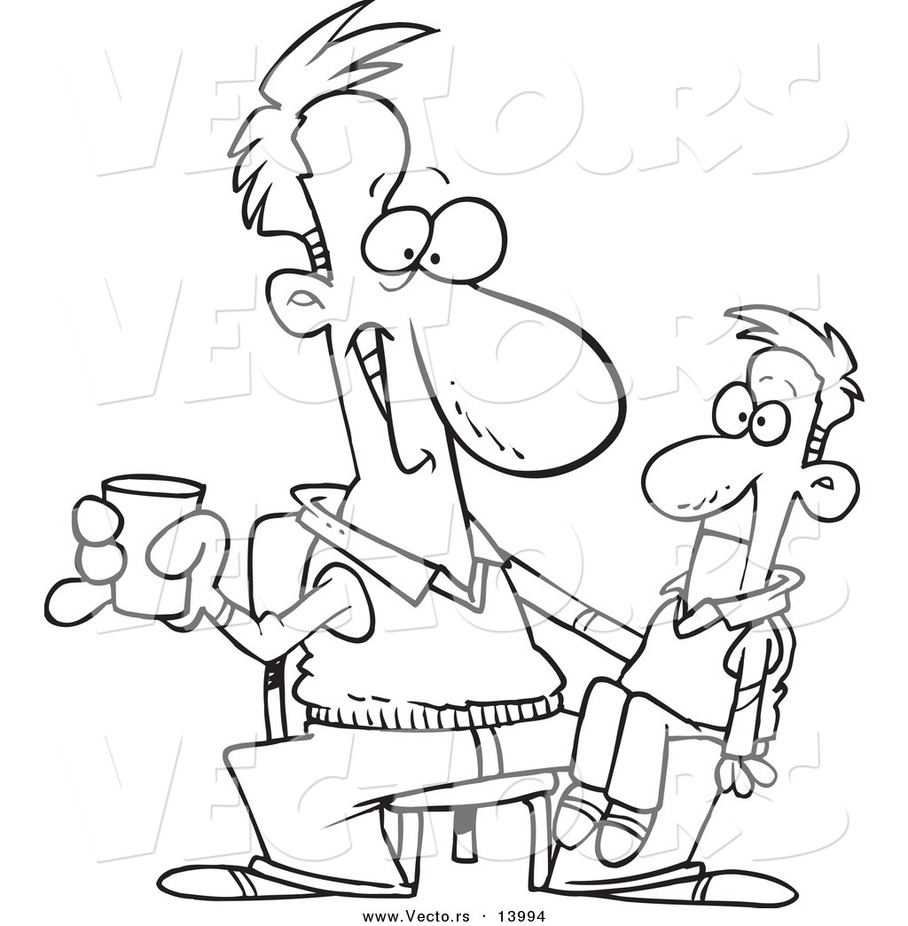 1024x1044 Vector Of A Cartoon Performing Man With A Ventriloquist Doll