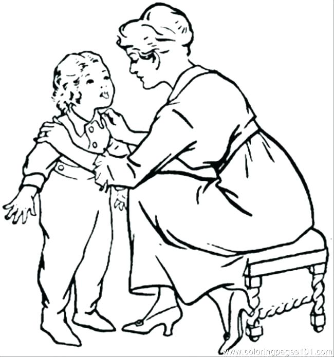 650x695 Child Coloring Page Child Coloring Page Mom Coloring Pages