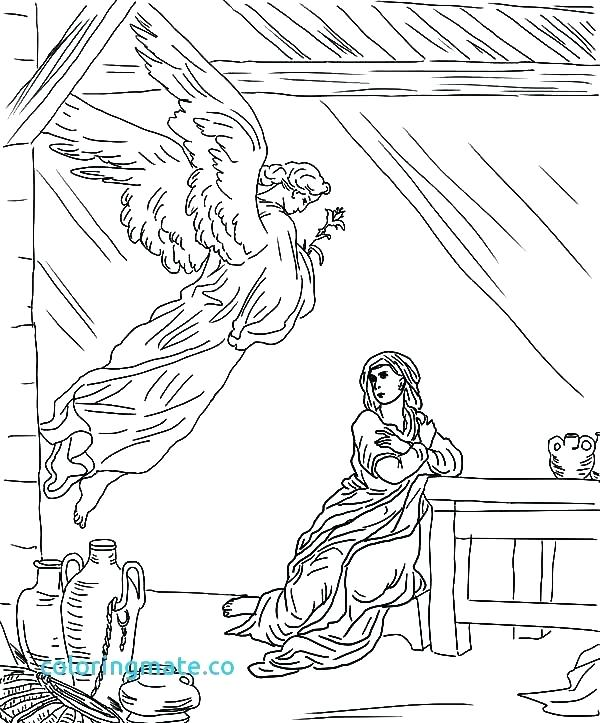 600x723 Mary Coloring Pages Coloring Pages And Coloring Page New Angel