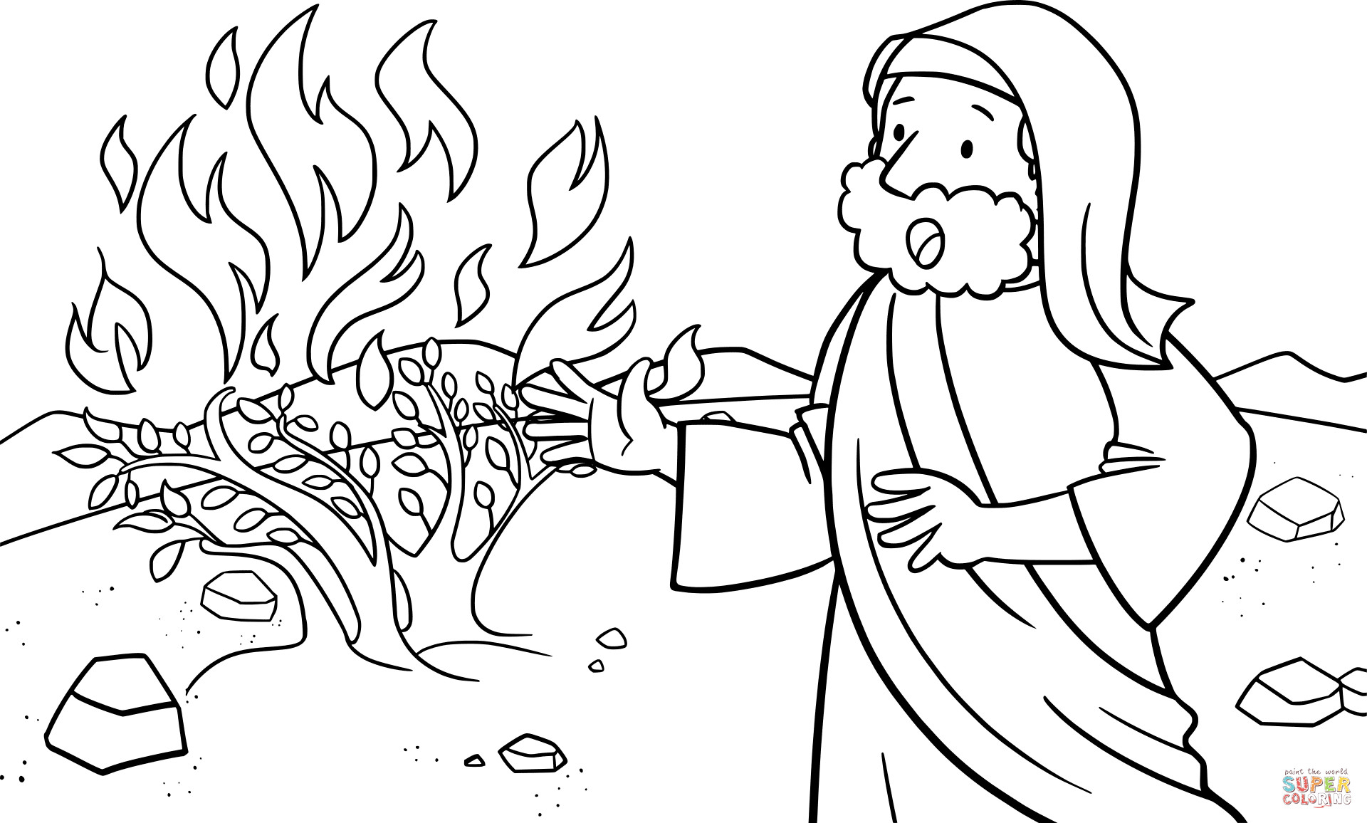 1920x1156 Moses And The Burning Bush Coloring Pages Inspirational Moses