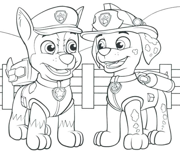 586x490 Paw Patrol Coloring Book Also Beautiful Paw Patrol Coloring Pages