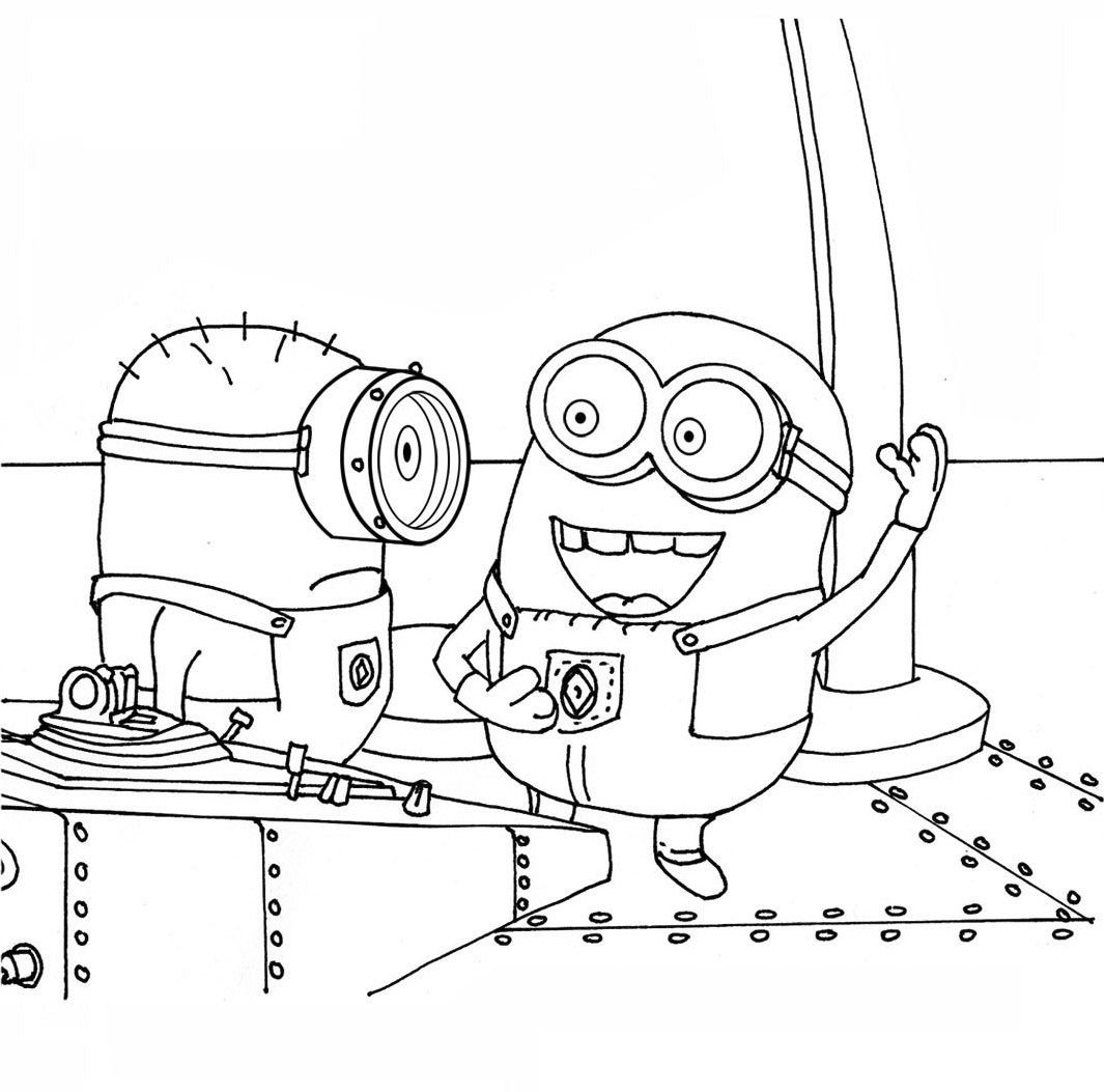 1065x1053 Stuart And His Friend Talking Coloring Pages All Things Minion