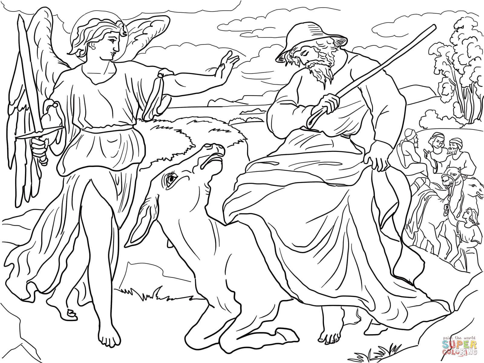 1600x1200 Balaam And His Donkey Coloring Page Throughout And The Talking