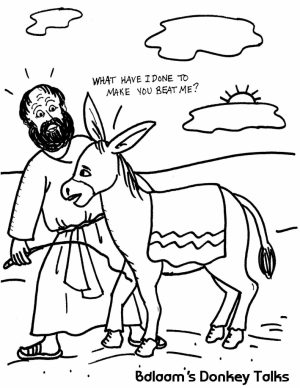 300x388 Balaam And The Talking Donkey Coloring Pages