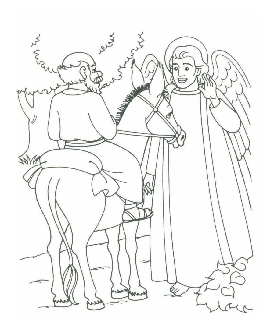 898x1034 Balaam And The Talking Donkey Coloring Pages