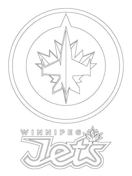 435x580 Winnipeg Jets Logo Coloring Page Winnipeg Jets