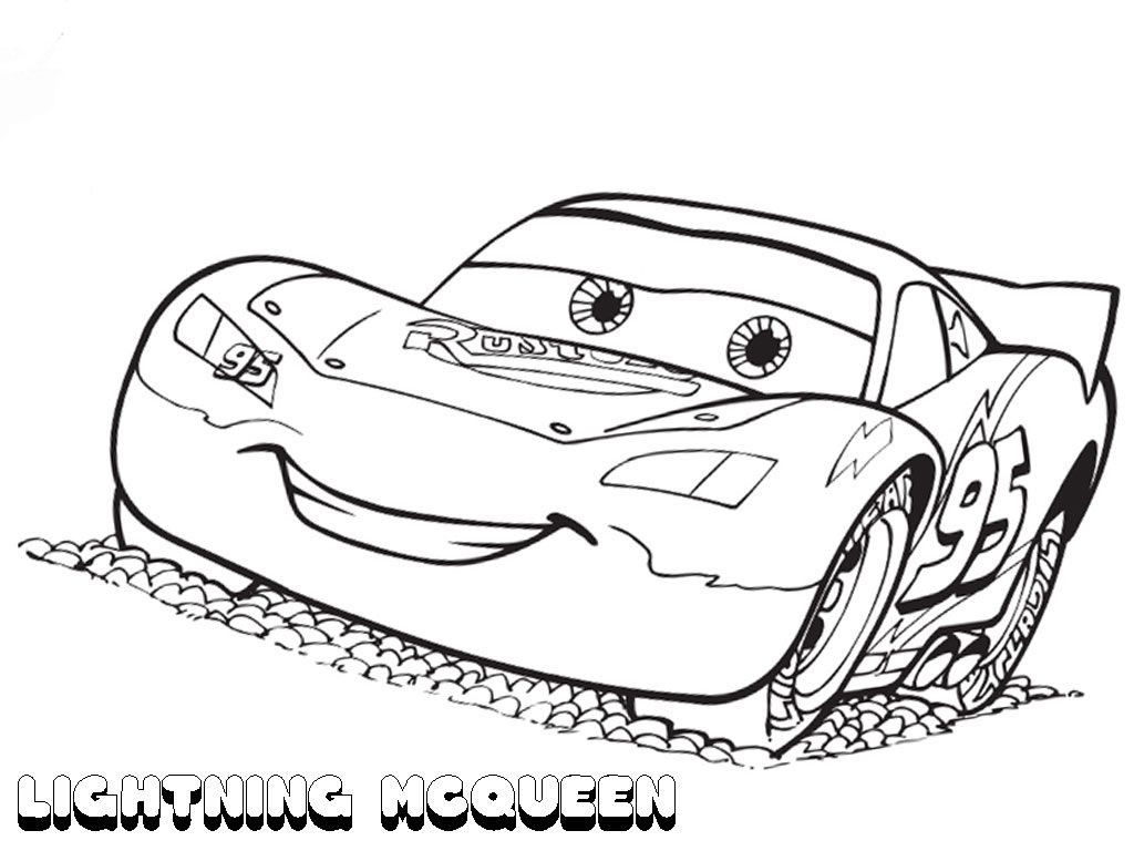 1024x768 Free Printable Lightning Mcqueen Coloring Pages For Kids Best