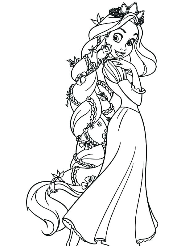 600x796 Disney Rapunzel Coloring Pages Coloring Page Free Printable