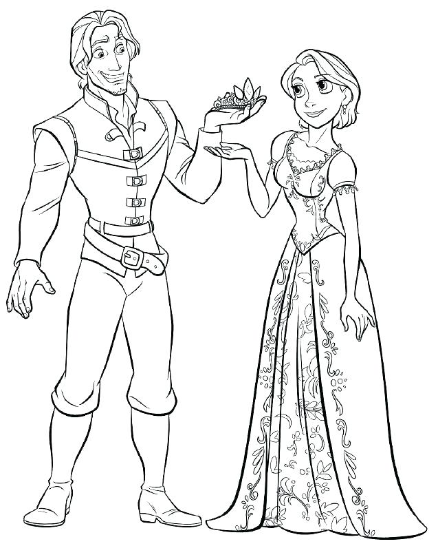 637x809 Princess Rapunzel Coloring Pages Free Tangled Coloring Pages
