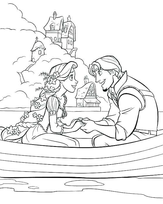 557x697 Rapunzel Coloring Pages To Print Tangled Coloring Page Tangled