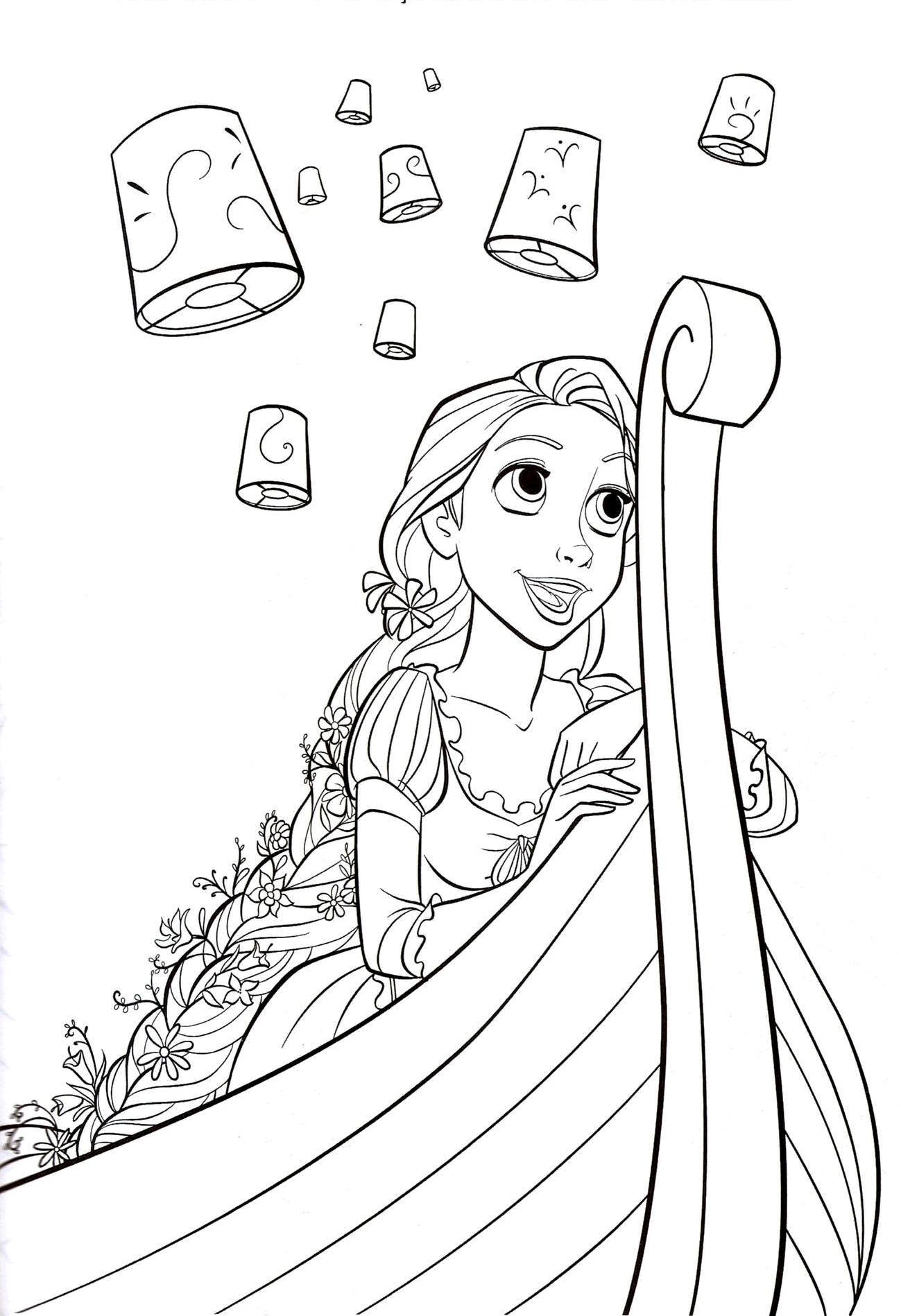1299x1898 Tangled Coloring Pages