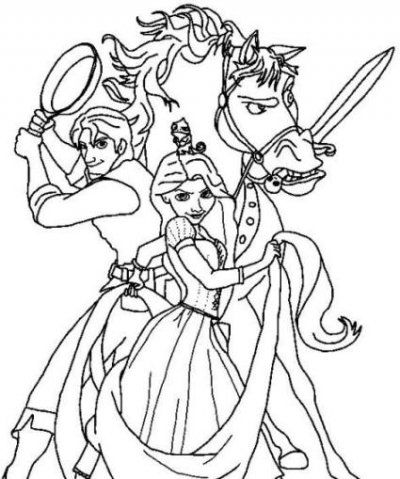 400x479 Best Tangled Coloring Pictures For Jacey Images