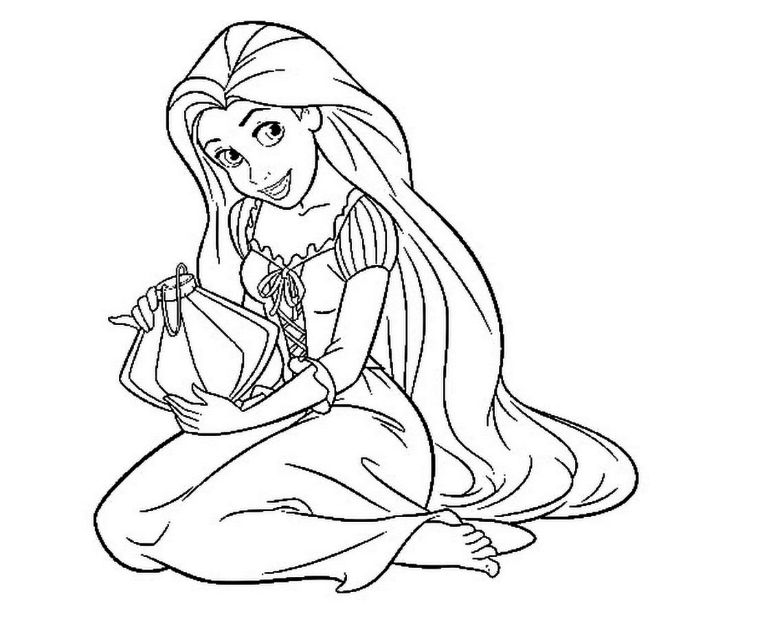 1106x910 Perfect Princess Rapunzel Coloring Pages Coloringsuite Coloring