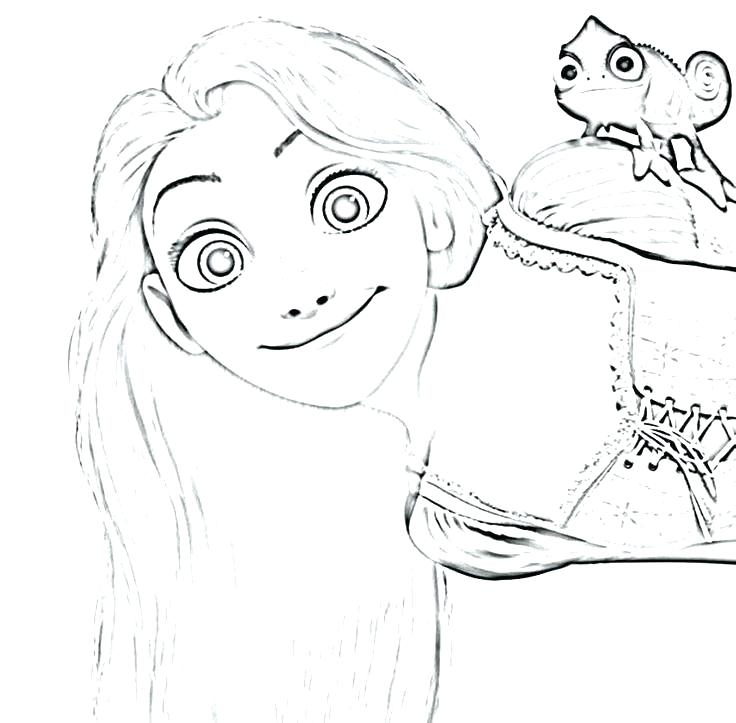 736x723 Rapunzel Coloring Pages Princess Coloring Pages Happy Tangled