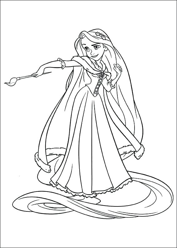 567x794 Tangled Color Pages Tangled Coloring Pages Online Free