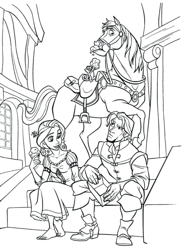 743x960 Tangled Coloring Page Printable Tangled Coloring Pages Free