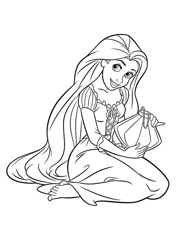 567x794 Tangled Coloring Pages Disney Rapunzel Regarding Design
