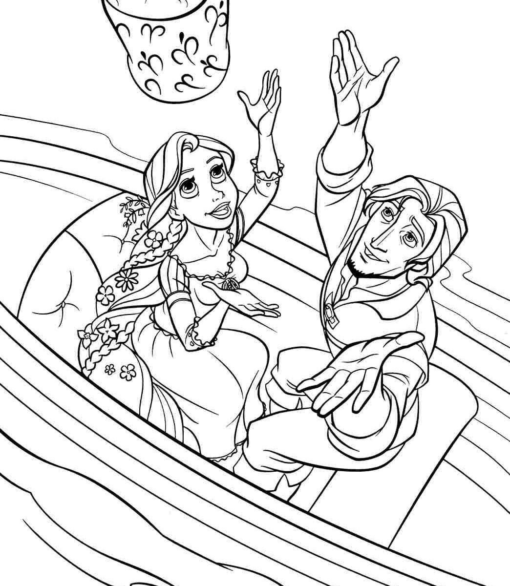 1044x1200 Tangled Coloring Pages Download Games Barbiepunzel Online Easy
