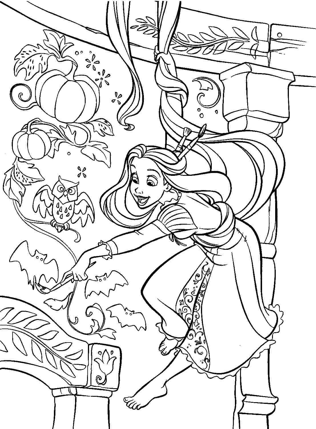 1107x1503 Tangled Coloring Pages Online Free