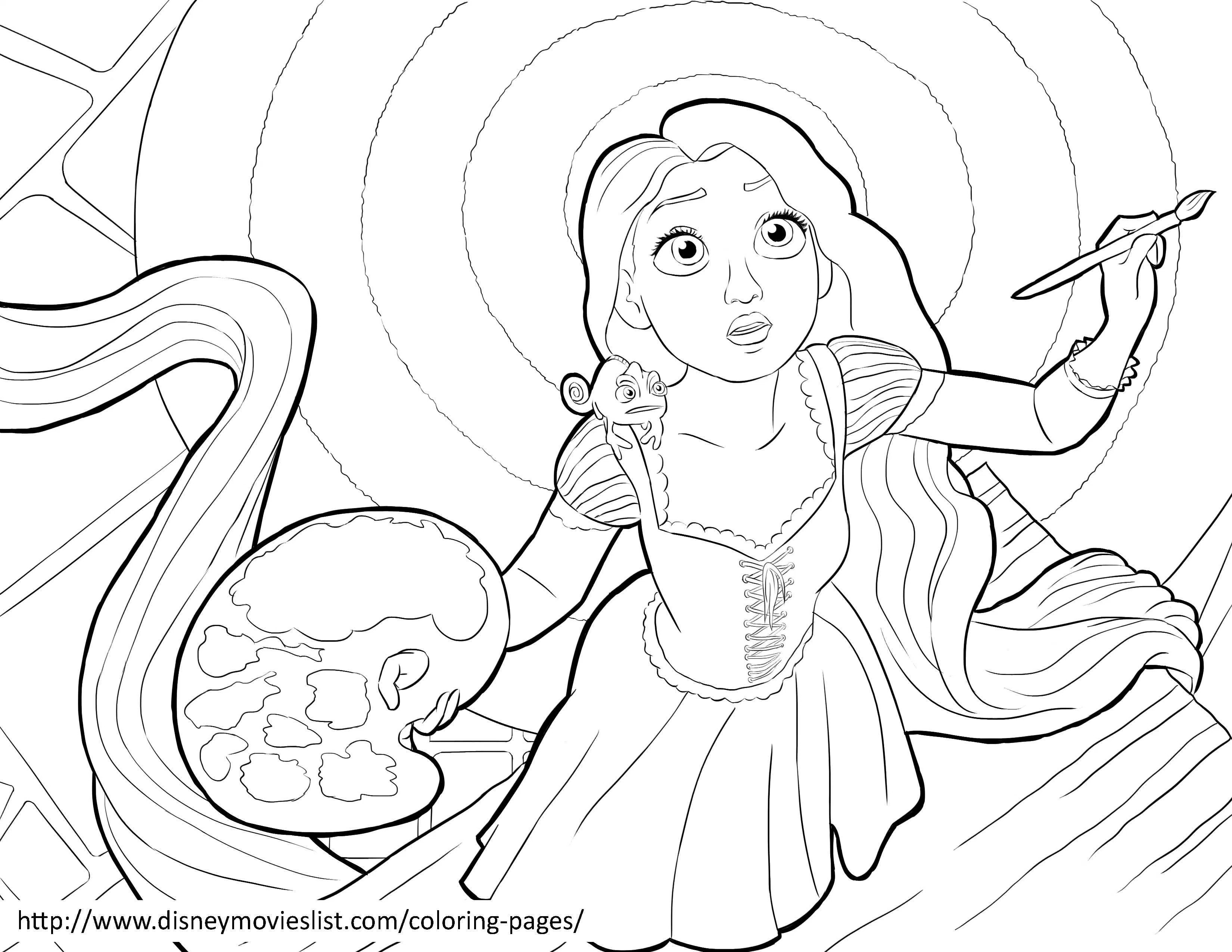 3300x2550 Tangled Coloring Pages Online Free