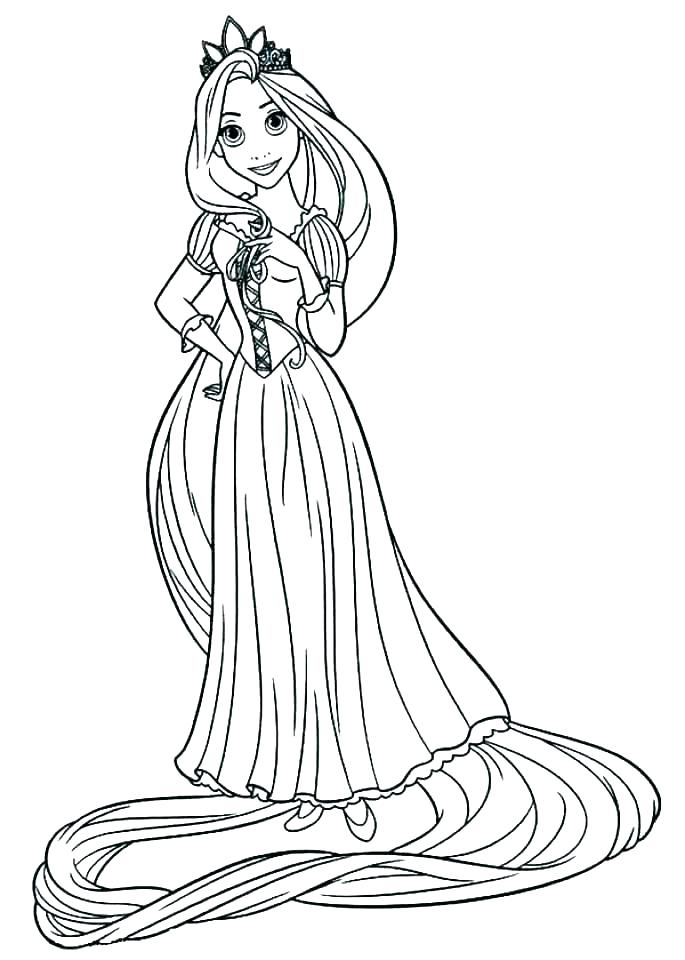 685x960 Tangled Coloring Pages Printable Tangled Coloring Pages For Kids