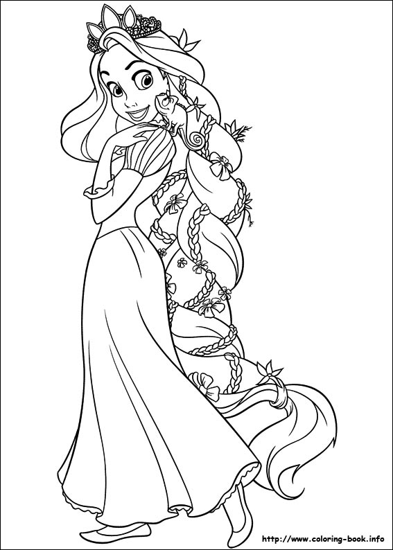 Tangled Coloring Pages Online Free at GetDrawings.com | Free for ...
