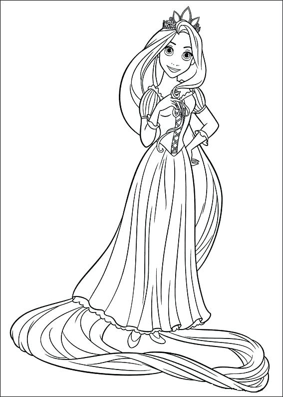 567x794 Coloring Pages Tangled