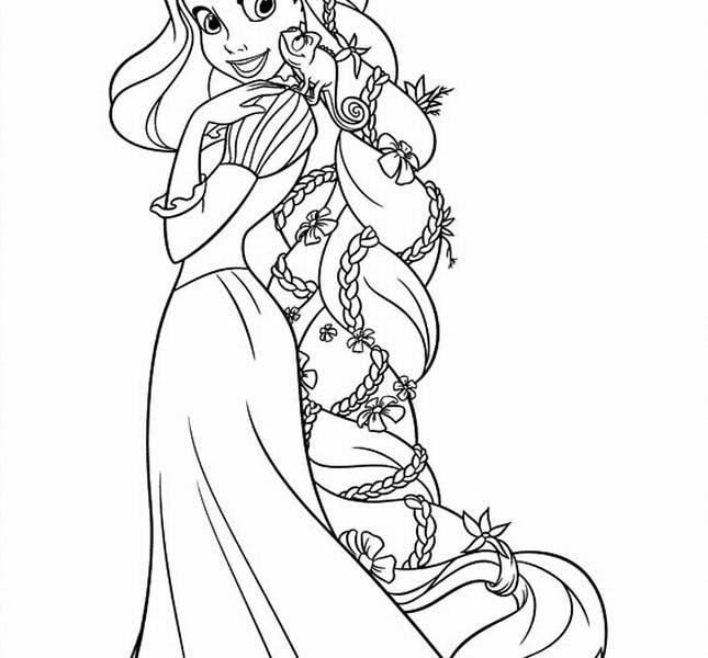 645x600 Printable Rapunzel Coloring Pages Coloring Page Ideas