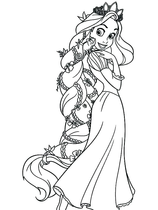 600x796 Rapunzel Coloring Page Coloring Pages Of Tangled Tangled Coloring