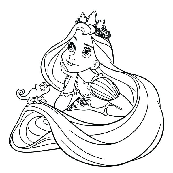 600x600 Pascal Rapunzel Coloring Pages Tangled Book And Of Pri Fuhrer