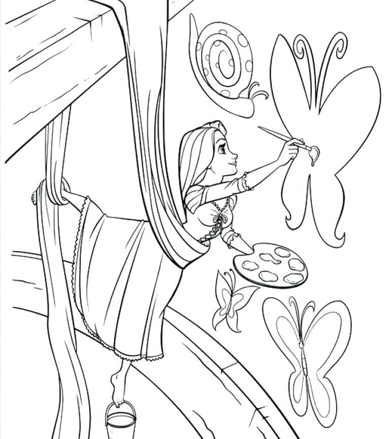 772x864 Best Rapunzel Coloring Pages Ideas On Pascal And Friends
