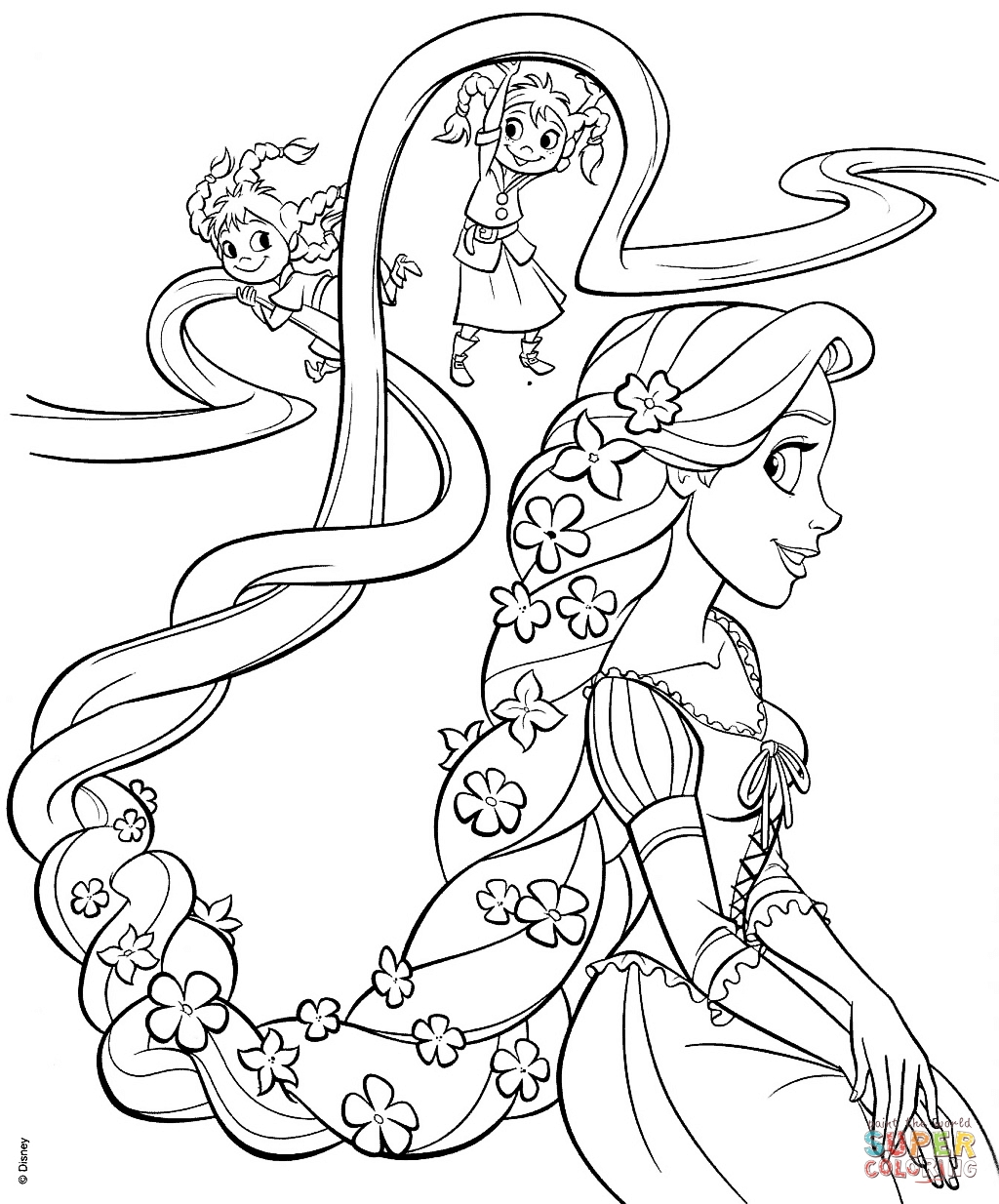 1024x1234 Rapunzel Coloring Pages Printable Gallery Free Coloring Sheets