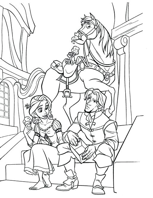 514x664 Rapunzel Coloring Pages To Print Coloring Page For Free Tangled