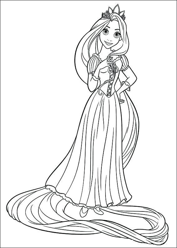 567x794 Rapunzel Coloring Pages To Print Tangled Coloring Pages For Kids