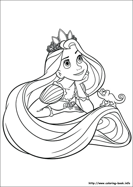 567x794 Rapunzel Coloring Pages To Print Tangled Coloring Picture Rapunzel