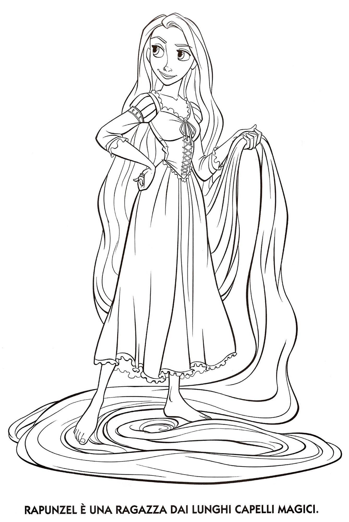 1337x2000 Tangled Colouring Pages