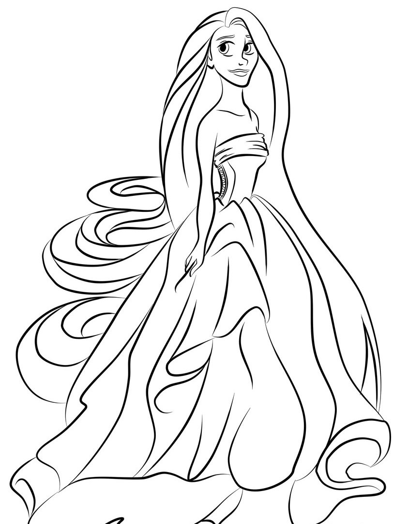 814x1081 Best Rapunzel Coloring Pages To Print Free Printable Rapunzel
