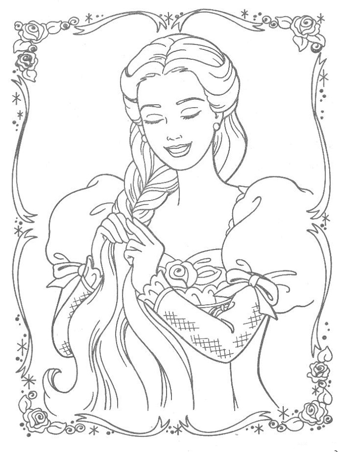 688x915 Best Rapunzel Coloring Pages Print Out Free Printable