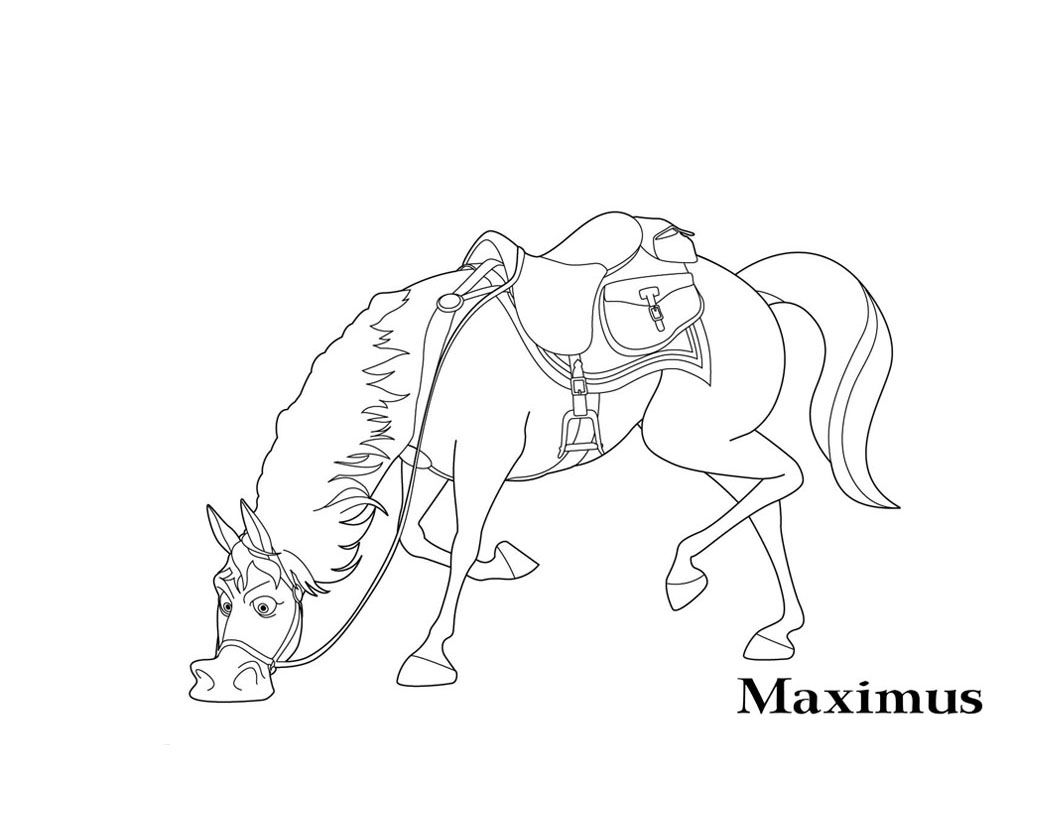 Tangled Maximus Coloring Pages At Getdrawings Com Free For