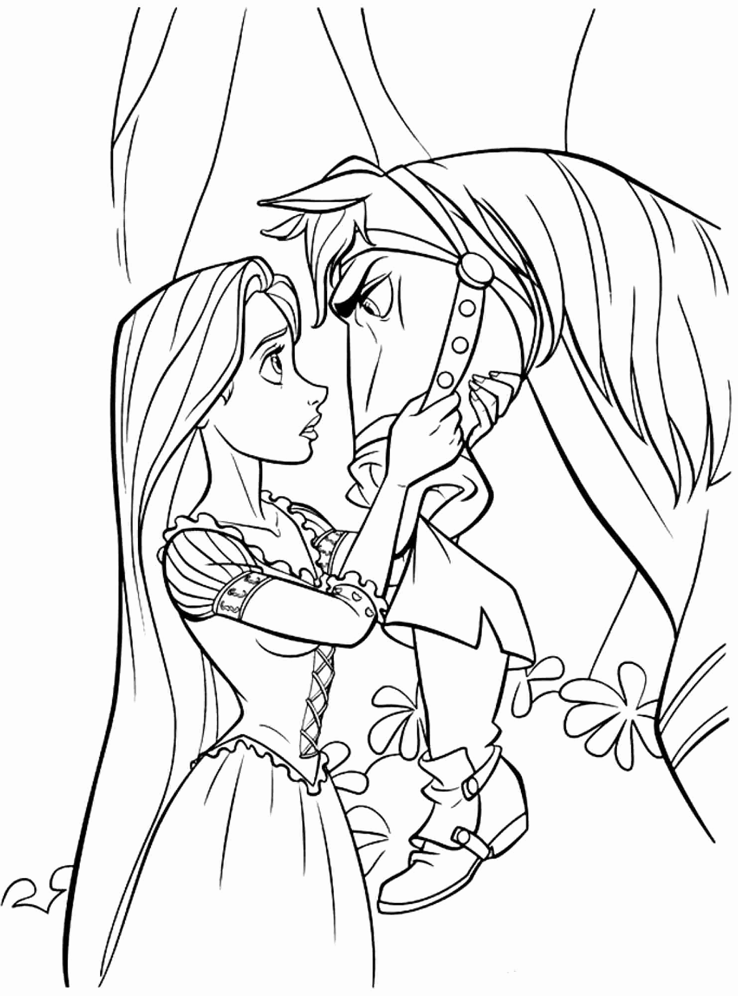 1482x2000 Tangled Coloring Pages Flynn Bltidm Tangled Maximus Coloring Pages